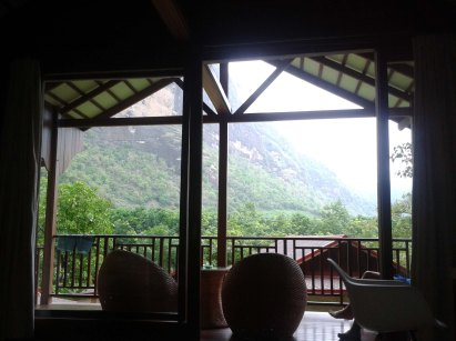View from Hpa-An lodge